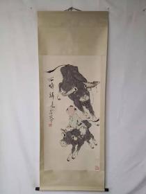 字画收藏仿古人物画大四尺中堂画手绘画画工精120611T