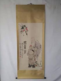 字画收藏仿古人物画大四尺中堂画绘画画工精细120609T