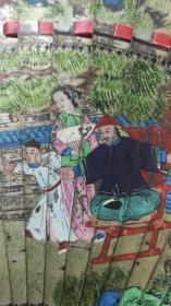 清代彩绘人物扇子,清代宫廷用物,极致奢华