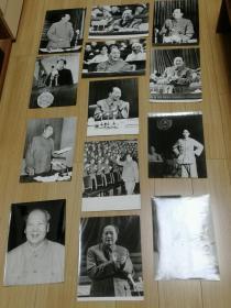 老照片《毛主席在主席台等》13张,长30厘米