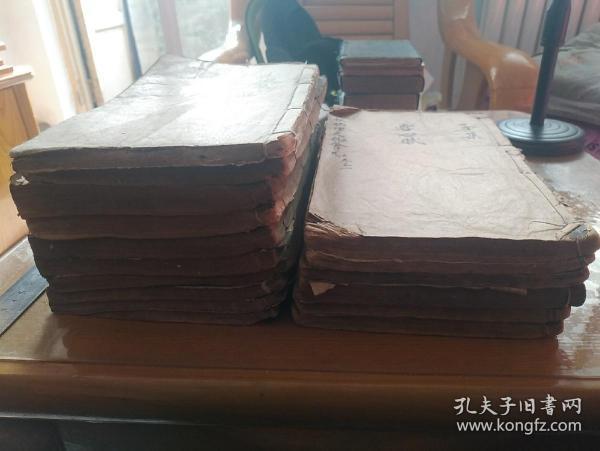 清刊《重镌官板地理天机会元》 木刻本 存16厚册,35卷,惜缺卷十、十九、三十、三十一。