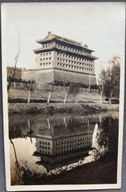 【老北京旧影】北京东便门角楼 民国老照片一枚