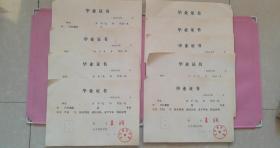 80年代毕业证书 北京钢铁学院 院长:王润 未使用 9张合售