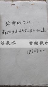 潍县治浑街公社——关于烈属、失踪、病故军人家属登记表——1960.8