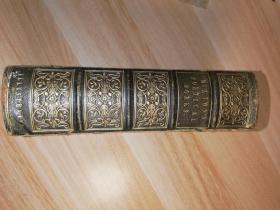 1846年  THE POETICAL WORKS OF JOHN MILTON  插图版  双面烫金全皮装帧  三面刷金   厚本  内页干净  16.3X11.5CM
