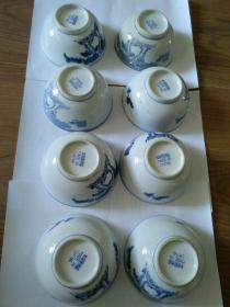 出口创汇时期中国景德镇底款花卉图案陶瓷碗