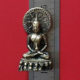 旧铜菩萨神像盘腿坐手持葫芦背后车轮佛像铜摆件铜器摆设收藏珍藏