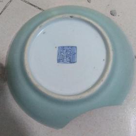 瓷片标本青代豆青盘
