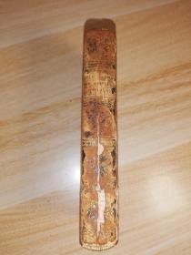 1811年  THE OLD ENGLISH BARON  AGOTHIC STORY THE CASTLE OF OTRANTO  2本合一 全牛皮装帧  13.2X7.5CM