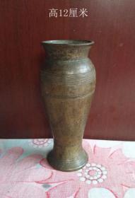 炫纹铜香炉瓶2798