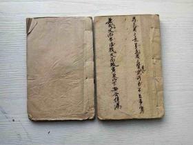 极稀有正宗明万历刻印、最早《元亨疗马集》两册一套全。(放铁柜上格)