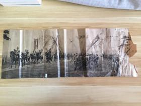 1931年日本印刷《皇威八慌的辉煌-昭和天皇阅兵式》一大张,背面是【大日本131位文武百官的肖像照和文字简介】,按勋位和官位等级依次排列