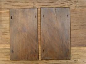 老式夹书板一对,尺寸29.7*16.7厘米