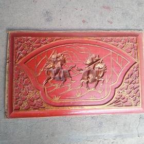 清代木雕,刀马旦,保真正品,售出不退。