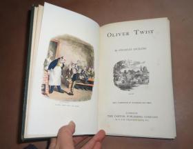 1892年Dickens: Oliver Twist 狄更斯《雾都孤儿》珍贵珂罗版彩色插图本 增补插图 布面烫金品佳