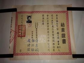 1955年北京市卫生工作者协会医师会结业证书(毕业证书 协和医院大夫陈瑞慈的)