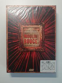 红磨坊DVD精装3碟装 红磨坊电影双张DVD9加红磨坊电影原声CD