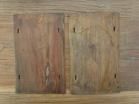 老式夹书板一对,尺寸25*16厘米
