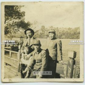 民国1930年代末期侵华日军游览北京颐和园合影老照片