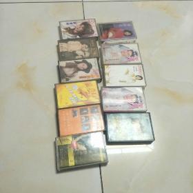 磁带:(邓丽君,高胜美,韩宝仪,等11盒合售)