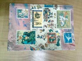 特价  外国古老邮票册一本  含美国、捷克、法国、波兰、瑞士等  多雕刻版