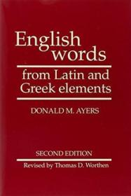 English Words From Latin And Greek Elements