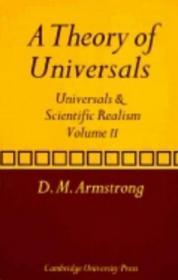 A Theory Of Universals