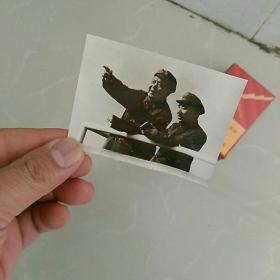 文革照片,毛林在一起,有泛银〈约6.5×8.5㎝〉