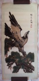 早期-杭州墨水厂--植绒画--雄鹰展翅