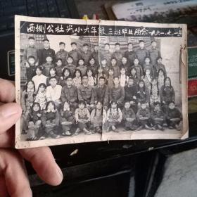 西圳公社光小大年级三班毕业留念(1961年)