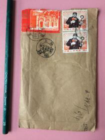 罕见!珍贵,文革,实寄封,内原信,挂号,内原信很多印章,邮戳是1972年的,信件是从1969年9月开始的,时间跨度大,非常少见。混贴邮票