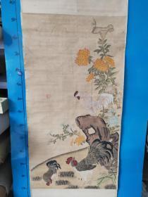12-10   -原装原裱 著名国画 精品纯手工绘画 大吉图作品一幅  有落款不识  买家自鉴
