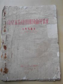 【南京岔路口朝阳洞山黄铁矿,1958年地质勘查报告】油印本