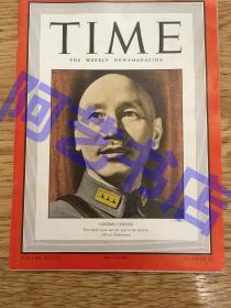 """【现货】时代周刊杂志 Time Magazine, 1942年6月,二战特别报道,封面 """"蒋委员长"""",珍贵的史料!"""