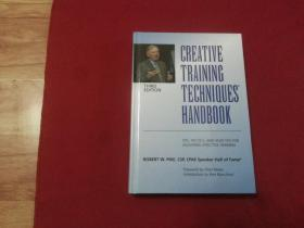 英文原版书籍【CREATIVE  TRAINING  TECHNIQUES  HANDBOOK(创意训练技巧手册)】16开精装本(作者签名本)实物拍照详见描述