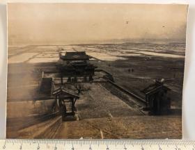 民国时期山西运城池神庙歌熏楼原版老照片