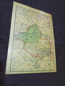 民国地图散页影印件:西部地方