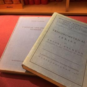 英文原版 Polska Akademia Nauk 波兰科学院数学专著丛书 第34卷 :《Cardinal and Ordinal Numbers》(基数与序数)作者:Waclaw Sierpinski (波兰学派之父)出版:波兰科学院(为第一张图片中左边的单册)
