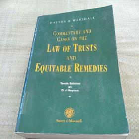 COMMENTARY AND CASES ON THE LAW OF TRUSTS AND EQUITABLE REMEDIES(信托法和衡平法救济的评注和案例)平装 馆藏