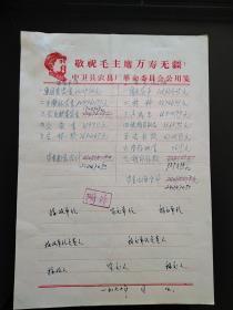 中卫县农具厂革命委员会公用笺