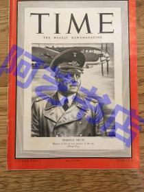 """【现货】时代周刊杂志 Time Magazine, 1940年,二战特别报道,封面 """"(德国空军元帅)米尔希"""",珍贵史料!"""