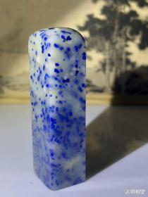 漂亮:青田封门蓝星!印章尺寸4.8*1.4*1.2厘米。适合线装木刻本等古籍篆刻藏书章之用