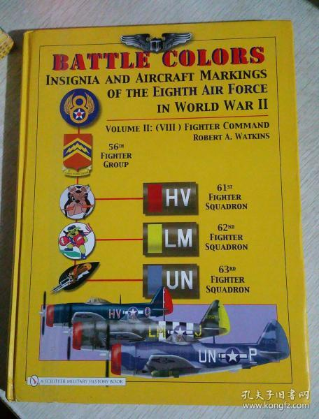 Battle Colors:Insignia and Aircraft  Markings of the Eighth air force in worid war Ⅱ ,其中之一册,完整书名看照片