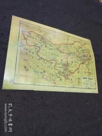 民国地图散页 影印件:绥远省、宁夏省