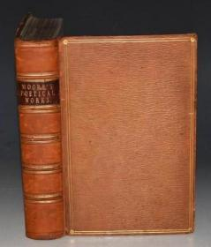 【特价】1846年 The Poetical Works of Thomas Moore《托马斯•摩尔诗全集》全横纹摩洛哥小牛皮古董书 超大善本 精美钢版画插图 珍贵早期版本 品相绝佳