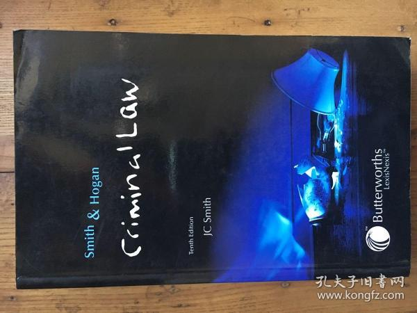 Smith and Hogan Criminal Law, 10th Edition by J. C. Smith 《刑法》【英文原版 厚册】