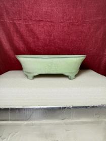 老瓷器高古瓷器宋代天青釉水仙盆