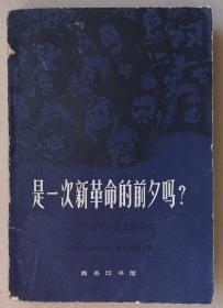《是一次新革命的前夕吗?》关于苏联共产主义的研究