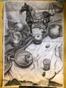 铅笔静物素描写生画