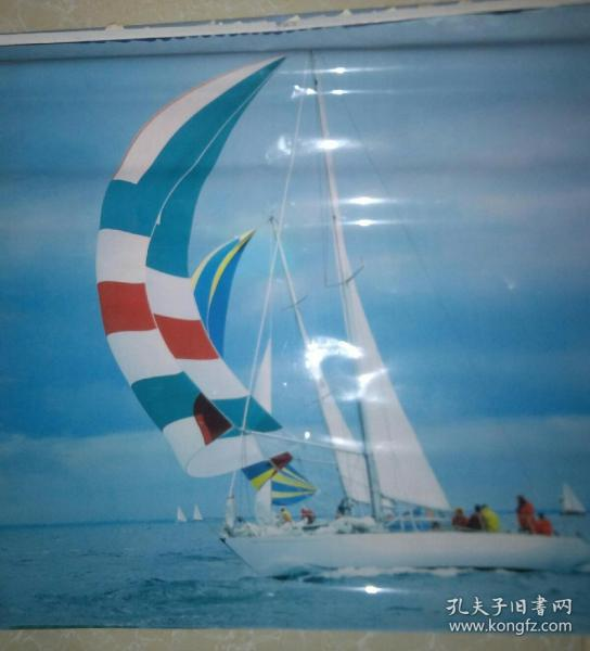 塑膜挂画 风帆船5张连